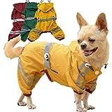 VEWARD Hund Regenmantel Einstellbare Regenkleidung Glitzern Stil Haustier Regenanzug Wasserdichte Kapuzenjacke Regenmantel