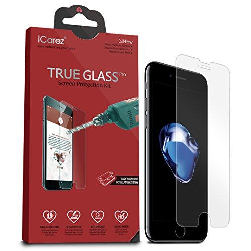 icarez [vetro temperato] Pellicola Proteggi Schermo per iPhone 64.7Inch Premium 0,33mm 9H antigraffio installazione facile (Confezione da 2)
