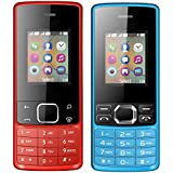 I KALL 1.8 Inch (4.57 Cm) Dual Sim Feature Phone Combo - K20 (Red) And K25 (Blue)