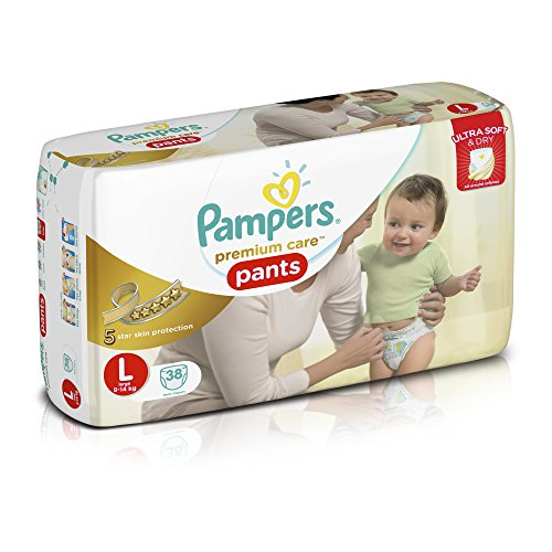 Pampers Premium Care Large Size Diaper Pants (38 Count)