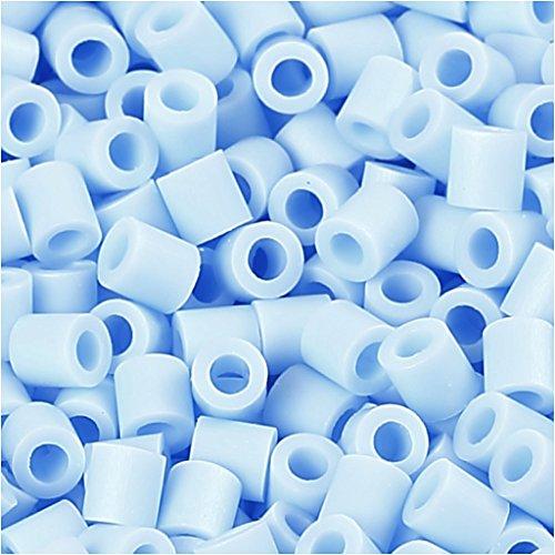 perles de photos, la taille 5x5 mm, la taille du trou de 2,5 mm, 6000 pcs., bleu clair (28)