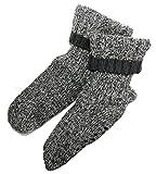 Tchibo Hausschuh Socken 44-46 Noppen Innenseite Fleece Antirutschsocken Stoppersocken TCM Kuschelsocken