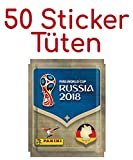 Panini Fifa Mondiale 2018 Russia - 50 paquet sticker con 5 - 250 Sticker totale - version tedesco per 682 pezzi Album