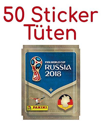 Preisvergleich Produktbild Panini WM Russia 2018 - Sticker - 50 Tüten
