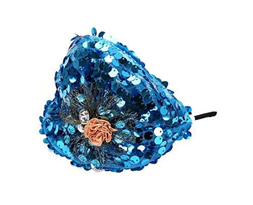 Elégant Bandeau Bandeaux large Headwrap Accessoires cheveux, Bleu