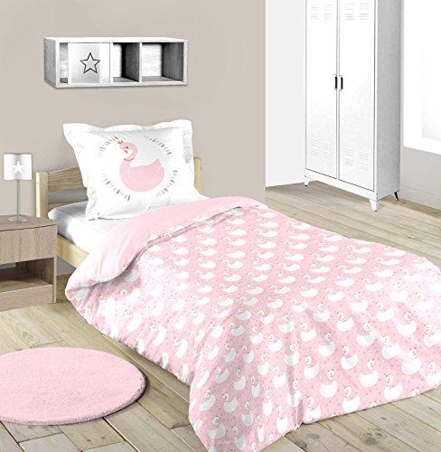 Lovely Casa Eloïse Eloise Bettbezug 1Kopfkissenbezüge 63x 63cm, Baumwolle, Rosa, 140x 200cm