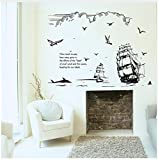 HAJKSDS Wandtattoos Wandbilder Kreative Persönlichkeitskerzenschattenbild-Aufkleberraum Bürosofa Fernsehhintergrund Dekorative Landschaftswandaufkleber