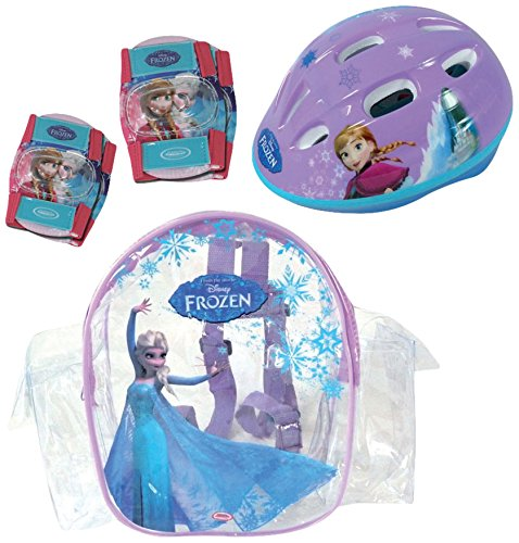 Frozen - Bolsa con casco, rodilla y codo pads