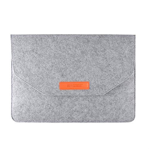 MacBook 12 Zoll Hülle Tasche, Swees Neues MacBook 12 Zoll Retina Display Schutzhülle Sleeve Tasche Verschluss mit Klettband - Grau