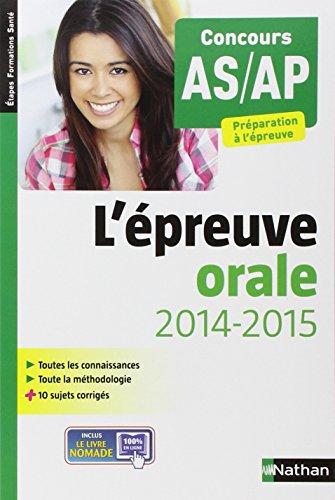 L'épreuve orale - Concours AS/AP