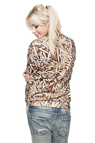 Funny Sweatshirts Company© Imprimé 3D Sweat-shirt Impression/Motif/Conception Taille Unique Unisexe Printemps Été 2017 HOLO TONGUE 29782