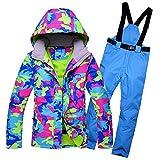 LNLW Frauen-Schnee-Jacken Skianzug-Sets Wasserdicht Leichte Jacke Regen-Mantel-Winddichtes Haut Snowboard Outdoor Sport Kostüme Pant