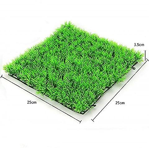 K&C Künstliche Wasser Aquatische grüne Gras Pflanze Rasen Aquarium Aquarium Landschaft Aquarium Pflanze von Aquatic Arts