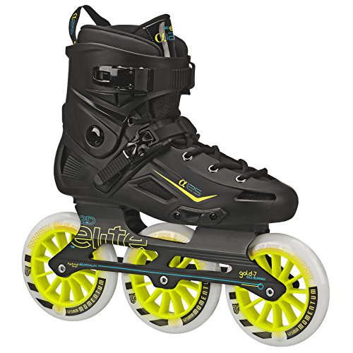 25 mm 3-wheel Inline Skate, RE262B, Schwarz, 10 ()
