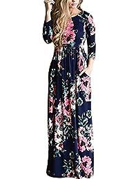 timeless design e0eb5 206fd Amazon.it: abito lungo invernale - A fiori e tropicale ...