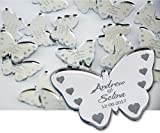 50 Personalised Wedding Confetti - 3.5cm - Butterfly Mr&Mrs Table Decoration Wedding Favours - Table Confetti