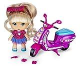 Barriguitas - Scootie de Purpurina, moto con 1 fmuñeca, para niños y niñas de 4 a 8 años (Famosa 700014934)