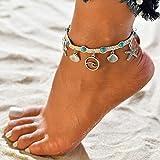 Gaddrt Fußkette Frauen Sommer Strand Sandale Barfuß Ketten Fuß Armband Knöchel Kette