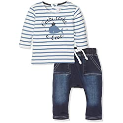 Absorba Boutique Bleu Sur Bleu, Ropa de Bautizo para Bebés, Azul (Marine 04), 1 mes