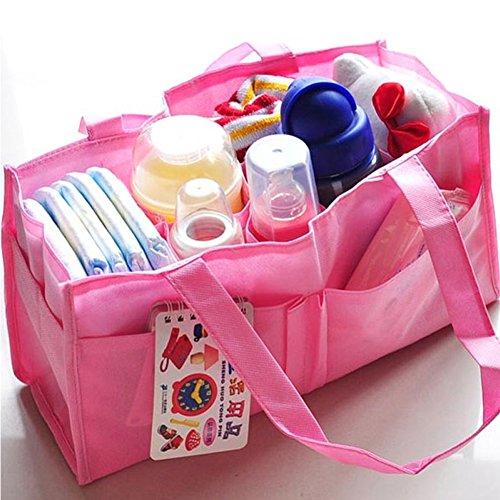 Fashion Galerie Muttertasche Baby Pflegetasche Babytasche Mammy Handtasche 34*18*13cm-Pink- (Galerie Handtasche Damen)
