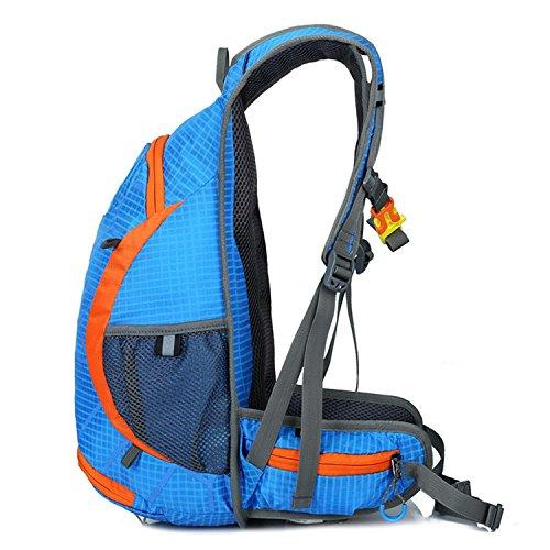 HWJF Wasserdichtes Reitrad Schulter Rucksack Reisen Bergsteigen Tasche Großes Kapazitätsbeutel Pack Blue
