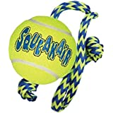 Kong Squeakair Tennis Ball with Rope, Medium