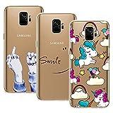 Yokata 3X Coques pour Samsung Galaxy S9 Etui Silicone Souple Étui Transparent Swag...
