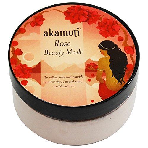 AKAMUTI - Masque du Visage à la Rose - Nettoie et clarifie les peaux matures et irritées - Idéal pour les peaux à problèmes - Pour un teint uniforme - Soutient les fonctions réparatrices de la peau