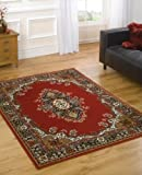 """Very Large Traditional Rug 180 x 250 cm (5'11"""" x 8'2"""") Red Carpet"""