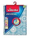 Vileda Universal - Funda de planchar , funda de 2 capas adaptable a todos los tamaños, capa de algodón y...