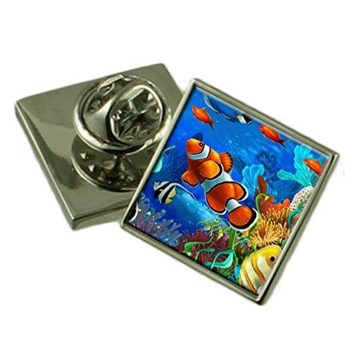 Tropische Fische Ehrennadel Abzeichen Geschenk Tasche -