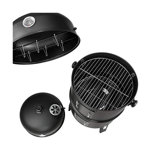 TecTake Barbacoa Barbecue Grill con Carbón Vegetal Parrilla Fumador – Varios Modelos – (3en1 BBQ Fumador/Parrilla | no. 400820)
