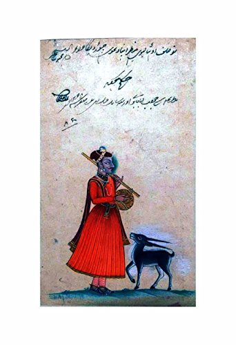 Royal singer in the achkan, Original painting (Size : 14*11 inch)