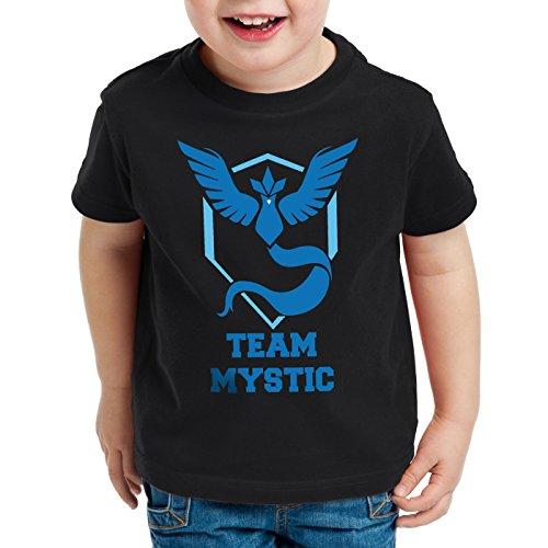 tic Kinder T-Shirt Team Blau Blue Weisheit, Farbe:Schwarz;Größe:128 (Buben Ball)