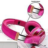 BT Wireless-Kopfhörer, OXOQO 4.2 Bluetooth-Wireless-Stereo-Headset Faltbarer Over-Ear-Kopfhörer mit Noise Cancelling-Mikrofon für TV/PC/Cell Phones (Pink)