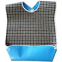HEALIFTY wasserfester Latz Large Size Tartan Plaid Wasserdicht Erwachsenen Bib Mealtime Kleidung Protector (grün) preisvergleich bei billige-tabletten.eu