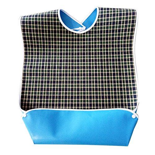 ROSENICE Lätzchen für Erwachsene, wasserdichte Druckknopfverschluss Esslätzchen für Ältere oder Behinderte Kleidung Schutz (grün)