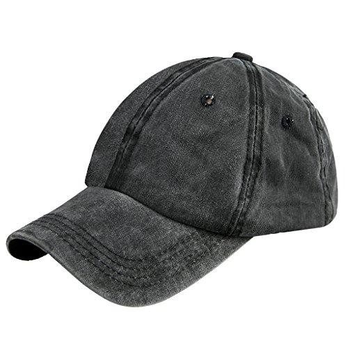 Unisex Fashion Jeans Baseball Cap Mütze Kappe Hut Sonnenhut Baseball Hip Hop Cap Sommerhut für Damen Herren Mädchen Jungen Cowboy-hut Und Schleier