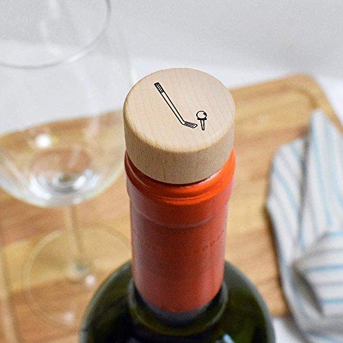 Azeeda 19mm  Golf Club   Ball  Wooden Bottle Stopper   Cork  BS00012188