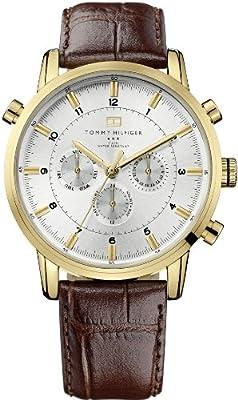 Tommy Hilfiger 1790874 - Reloj para hombres, correa de cuero color marrón