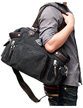 Outdoor peak herren canvas Handtasche Reisetasche Schulter Umhängetasche Freizeit Sporttasche männer schwarz