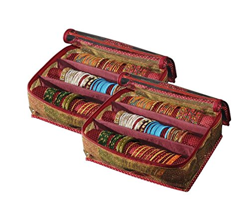 Srajanaa Multicolor Plastic Pack Of 2 Bangle Organiser Box