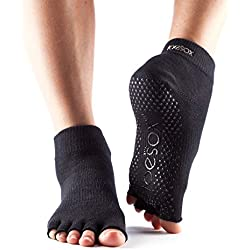 Yoga-mad Half Toe Ankle, Unisex Adulto, Negro