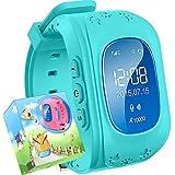 Reloj para Niños,TURNMEON® Reloj Infantil Pulsera Inteligente Localizador Compatible con Smartphones (Azul)