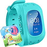 Uhr für Kinder,TURNMEON intelligent uhr mit GPS WIFI Anti-lost Tracker Smart watch Handy mit SIM SOS Armband für Smartphone (Blau)