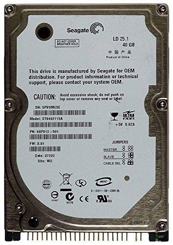 Notebook Festplatte IDE 40GB Seagate LD25.1 ST9402115A ID14266 (Seagate Laptop 40gb)