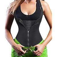 Chumian Women's Underbust Corset Waist Trainer Cincher Steel Boned Body Shaper Vest with Adjustable Straps