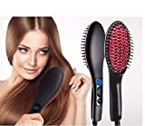 OLIS Ceramic Professional Electric Hair Straightener Brush with Temperature Control and Digital Display