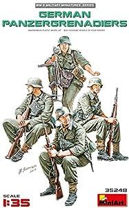 MiniArt- German Panzergrenadiers Figuras, Color Gris (MIN35248)