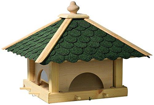 Luxus-Vogelhaus 98700e Großes XXL Vogelhaus aus Holz (Kiefer) für Garten, Balkon, mit 4 herausziehbaren Futterschubladen – XL Vogelhäuschen Vogelfutterhaus - 4